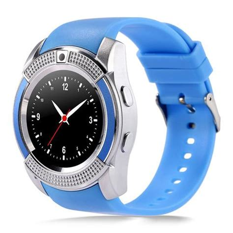 V8 Smart Band Calling Clock With Smar Diskon v8 smart blue