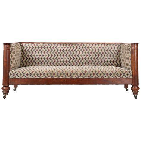 antique settee sofa 19th century empire box form antique sofa settee with