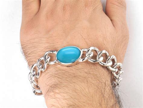 Buy Online Salman Khan Real Feroza Stone Silver Bracelet