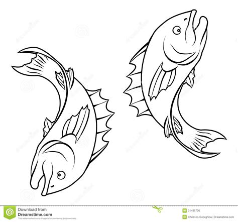 stylised fish illustration royalty free stock image