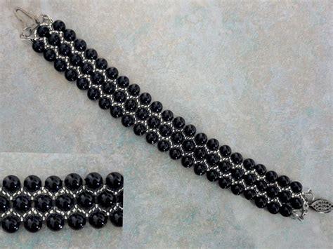 beading tutorials free pattern for bracelet black pearl magic