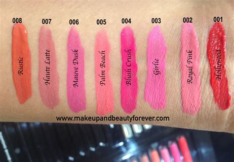 Menow Proof No 08 Matte all colorbar proof lip stain review shades swatches