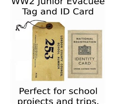 evacuee tag template ration book ww2 printable crafts