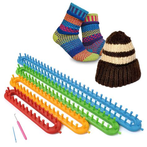 knitting loom 1 set 4 size quality scarf shawl hat yarn knitter knifty