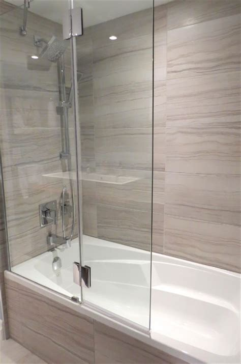 bathtub with glass bathtub with glass shower shield