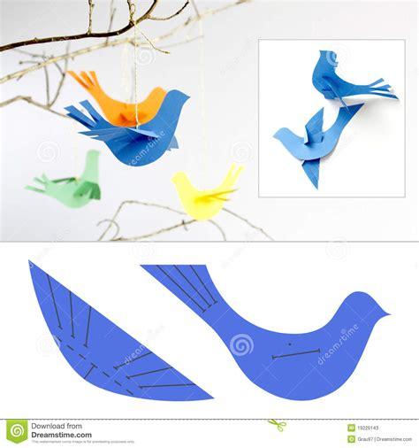 Bird With Paper - paper birds stock photos image 19226143