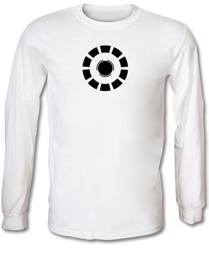 arc reactor iron man long sleeve shirt chargrilled
