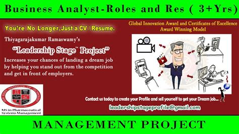 Ba Roles And Responsibilities by Leadership Stage Project Business Analyst Roles And Responsibilities 3 Yr