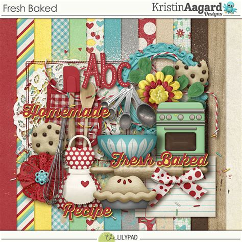 Current Scrapbooking Sale by Digital Scrapbook Kit Fresh Baked Kristin Aagard