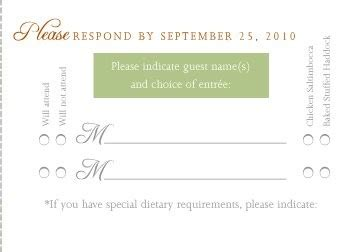 Rsvp Card With Menu Options Weddings Etiquette And Advice Wedding Forums Weddingwire Wedding Rsvp Menu Choice Template