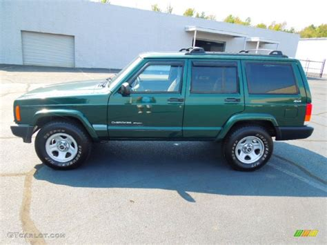 green jeep cherokee forest green pearl 1999 jeep cherokee sport 4x4 exterior