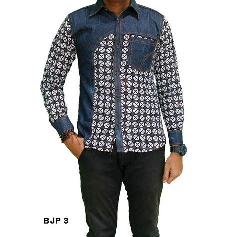 Kemeja Pria Denim 3 kemeja batik pria kombinasi bjp 3