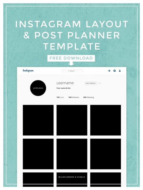 layout instagram gratis instagram layout post planner template planner