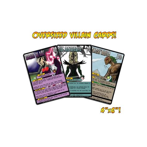 Sentinels Of The Multiverse Villains buy sentinels of the multiverse oversized villain card