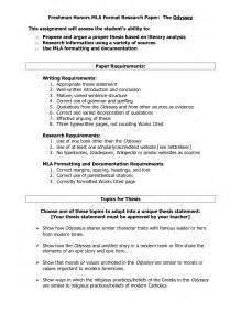 Mla Format Section Headings by Mla Research Paper Format Section Headings