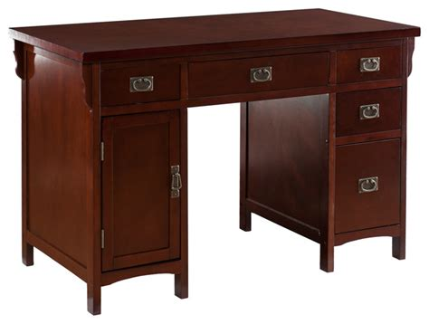 Landon Desk With Hutch Cherry landon computer desk cherry traditional desks
