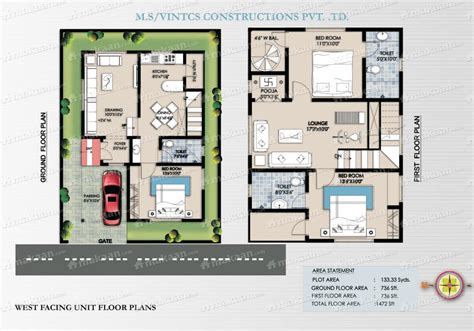 30 40 site plan duplex house