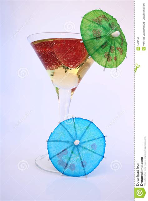 martini glass with umbrella martini umbrella royalty free stock image image 3002796