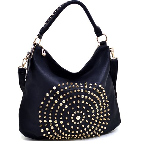 Studded Bag multi studded hobo bag