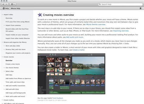 tutorial para imovie imovie tutorial o video imovie appleayuda com