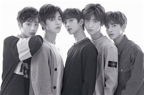 First Official TXT Photo With All The Members Released ... .txt