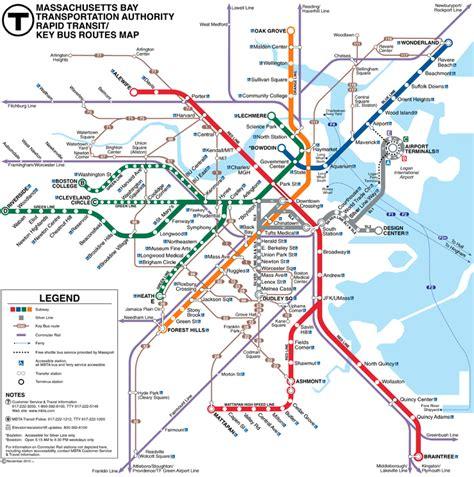 boston mbta map metro s subways and underground transport maps boston mbta