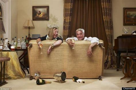 gogglebox posh couple fell off sofa gogglebox stars dom and steph for celebrity big