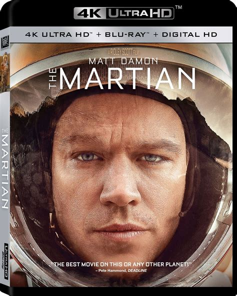 film blu ray uhd the martian dvd release date january 12 2016