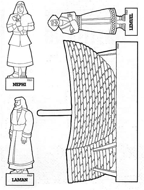 Lds Coloring Pages Nephi Builds A Ship | nephi builds a ship liahona