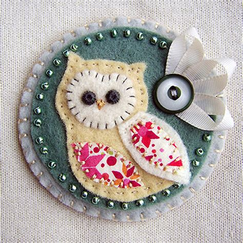 Handmade Fabric Crafts - folksy buy quot owl fabric brooch quot craftjuice
