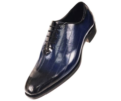 navy dress shoes for bolano mens faux eel print oxford dress shoe in
