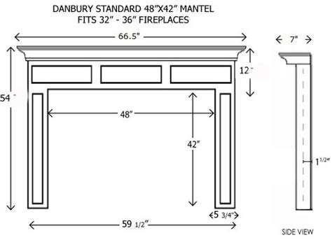 Fireplace Hearth Size by Wood Fireplace Mantels Builder Mantels Danbury