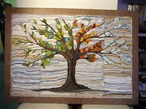Home Decor Recycled Materials textile art recyclart