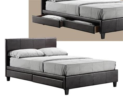 Bed Frames For Sale Leeds 4 Draw Storage Double Leather Bed Memory Foam Mattress