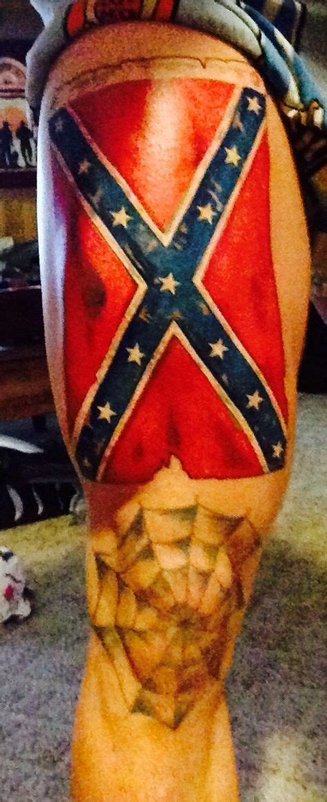 rebel flag tattoo tattoos pinterest rebel flag