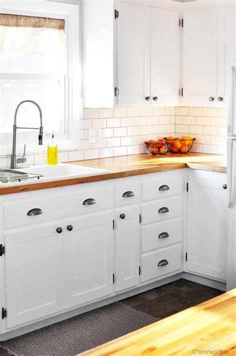 Kitchen Makeover Ideas On A Budget by Kitchen Hack Diy Shaker Style Cabinets Cherished Bliss