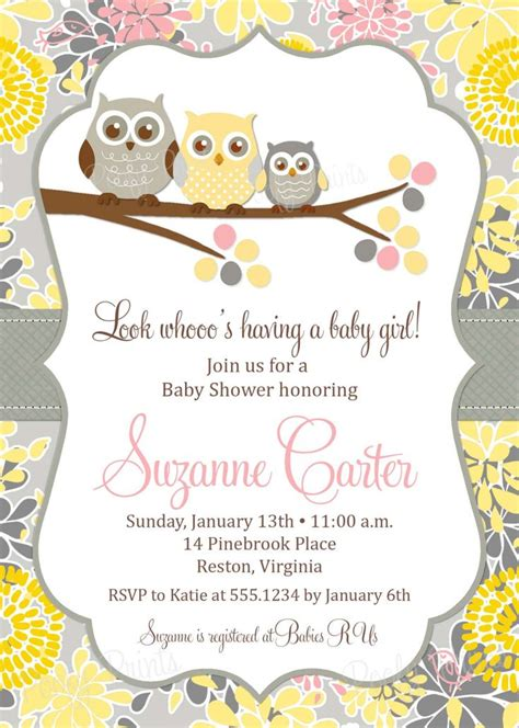 owl baby shower invitations template free baby owl shower invitation printable owl baby