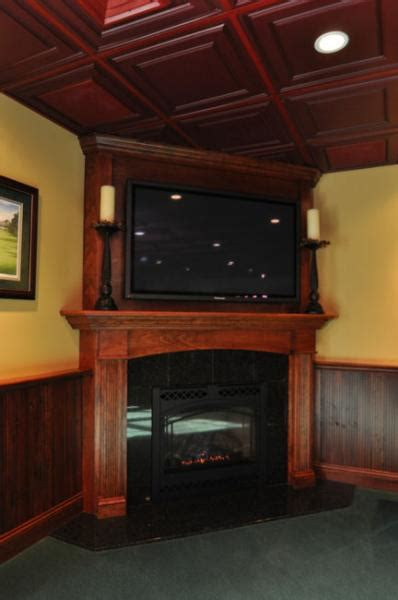 Big Screen Tv Fireplace by A Drumm Design Remodel Specialty The Corner Fireplace With Big Screen Tv