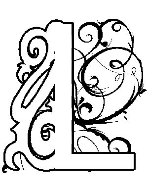 coloring pages illuminated letters illuminated l coloring page