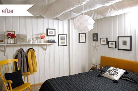 basement paneling makeover a basement bedroom gets a bright makeover
