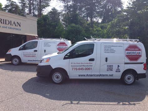 american alarm company american alarm benefits from fleet vehicle graphics in