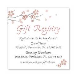 bridal registry bridal shower gift registry wedding invitation sle
