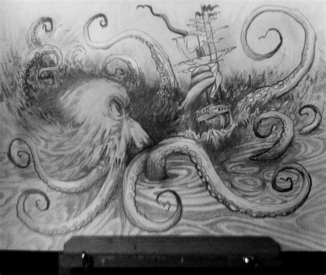 kraken sketches hatters artwork