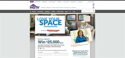 Love Your Home Sweepstakes - hgtv com loveyourspace hgtv love your space sweepstakes