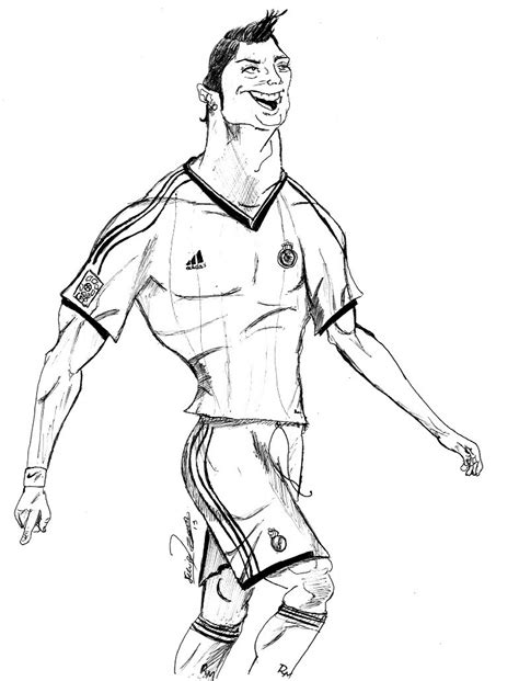 coloring pages ronaldo ronaldo easy coloring pages