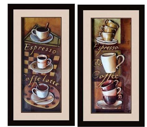 dining room wall art 3d cafe espresso 3d kitchen dining room wall art decor set of
