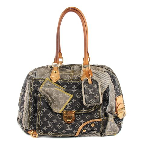 Patchwork Louis Vuitton - louis vuitton denim patchwork bowly 114862