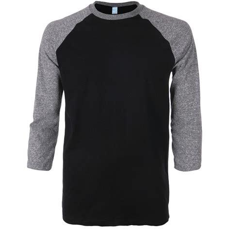 Tshirt Raglan Black raglan 3 4 sleeve t shirt seed apparel