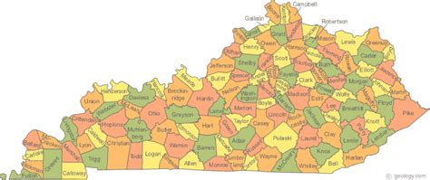 kentucky geography map maps geography