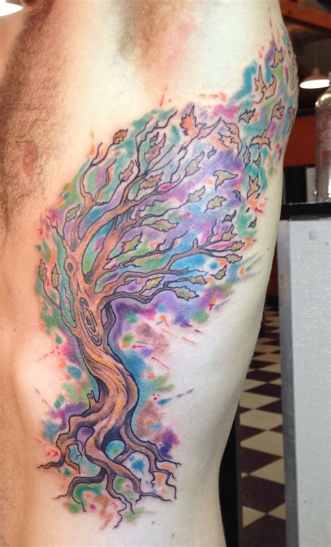 cool watercolor tattoo designs 28 coolest watercolor tree tattoos ideas ohh my my